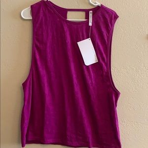 Fabletics burnout muscle tee NWT